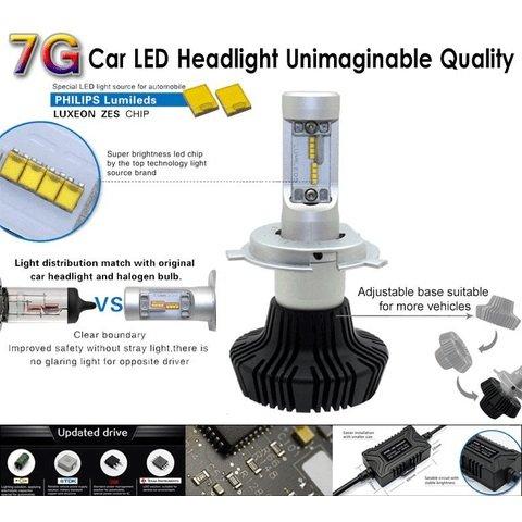 Набір світлодіодного головного світла UP-7HL-9004W-4000Lm (9004, 4000 лм, холодний білий) Прев'ю 2