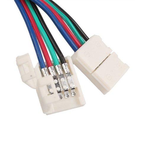З'єднувальний кабель, 4-контактний, для світлодіодних стрічок RGB5050 WS2813, двосторонній Прев'ю 3